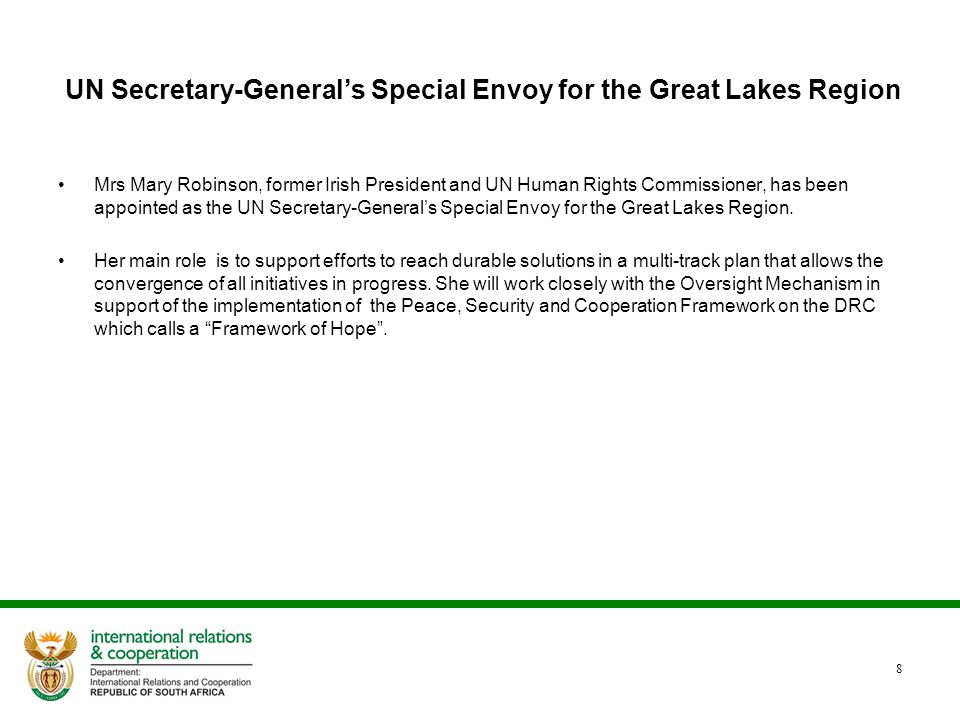 UN Secretary-General's Special Envoy for the Great Lakes Region