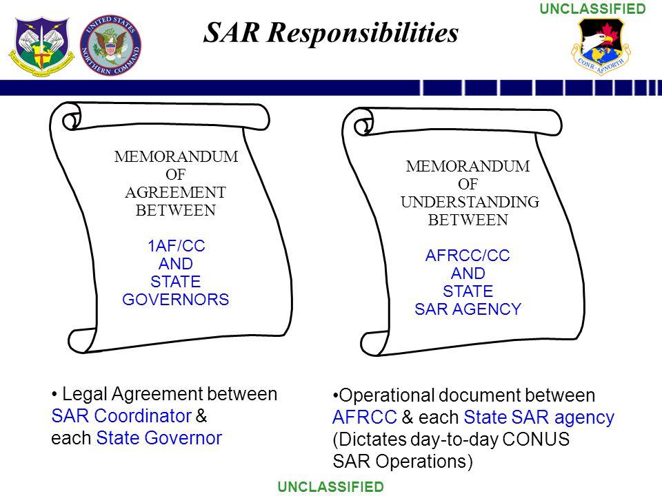 SAR Responsibilities Legal Agreement between SAR Coordinator &