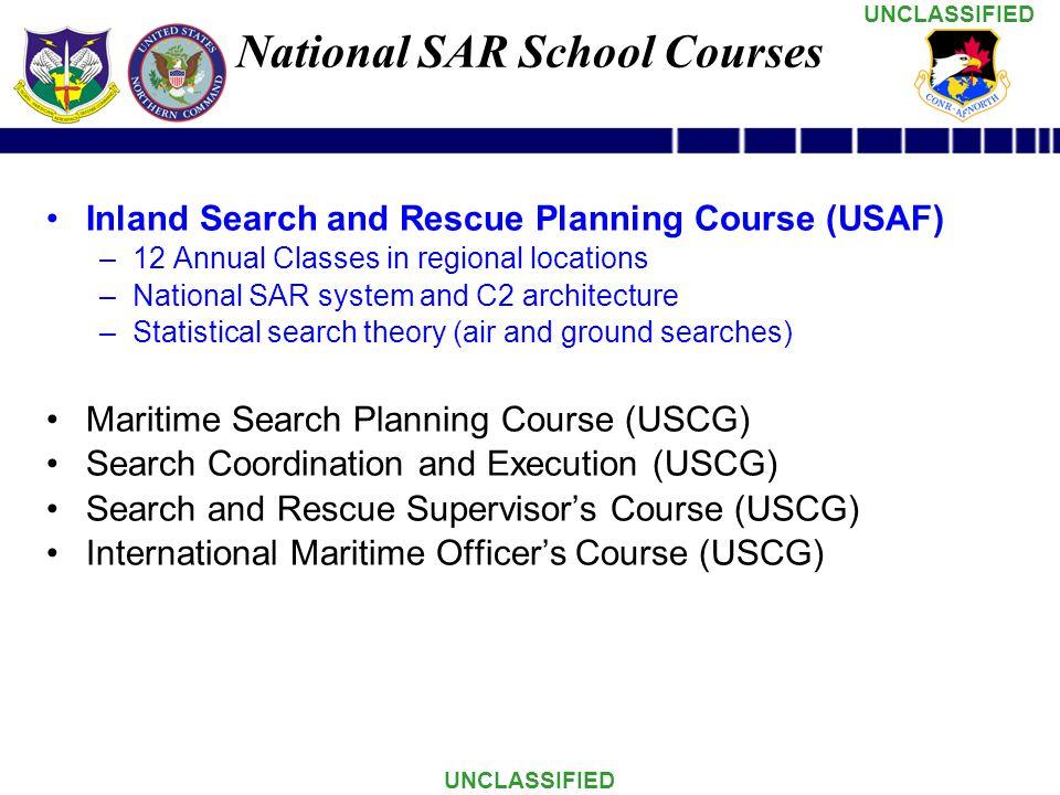 National SAR School Courses