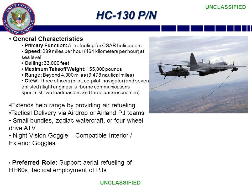 HC-130 P/N General Characteristics