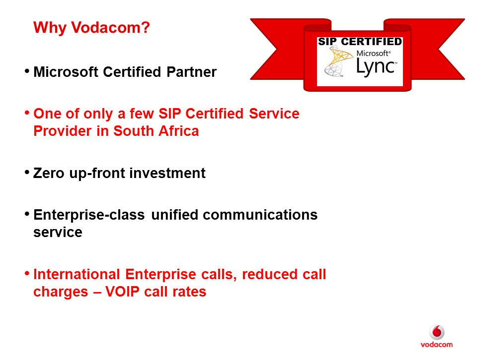 Why Vodacom Microsoft Certified Partner