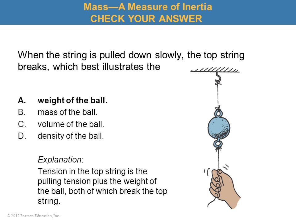 Mass—A Measure of Inertia