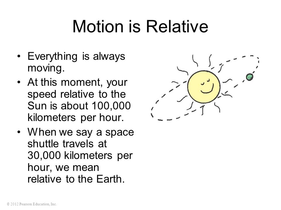 Motion is Relative Everything is always moving.