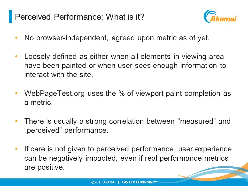 Perceived Performance: What is it