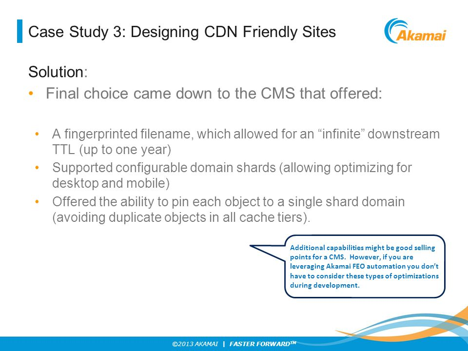 Case Study 3: Designing CDN Friendly Sites