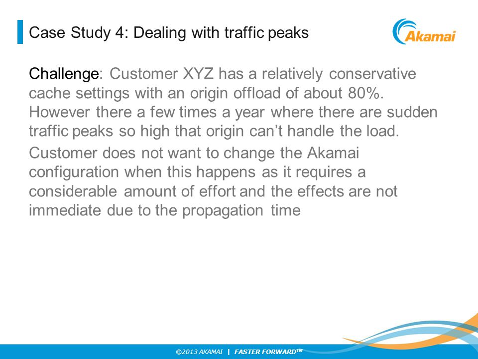 Case Study 4: Dealing with traffic peaks