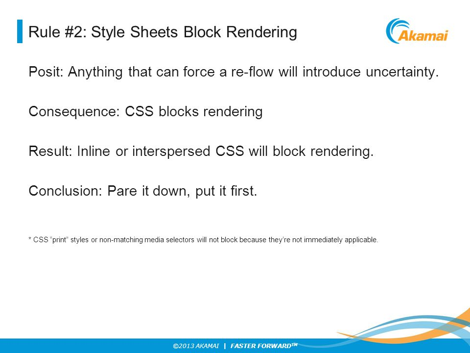 Rule #2: Style Sheets Block Rendering
