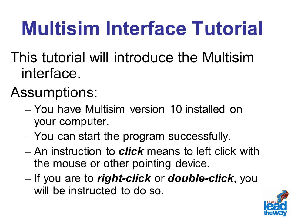Multisim Interface Tutorial