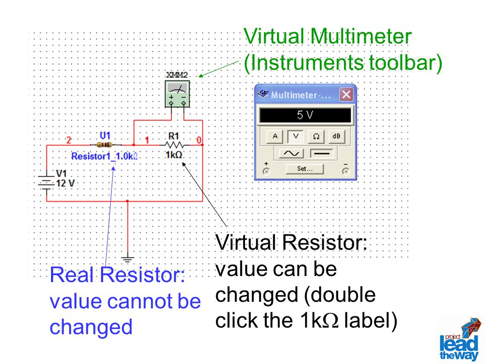 Virtual Multimeter (Instruments toolbar)