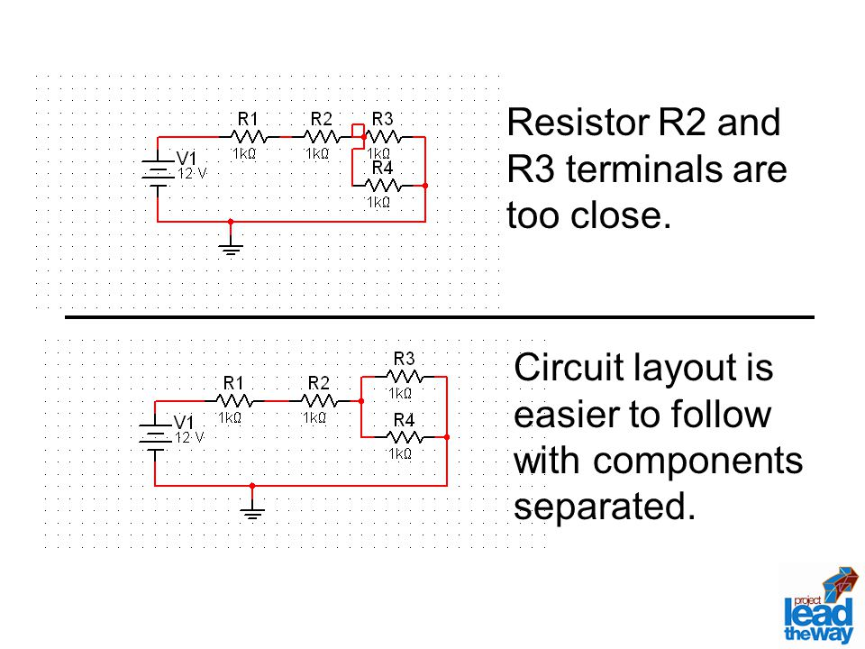 Resistor R2 and R3 terminals are too close.