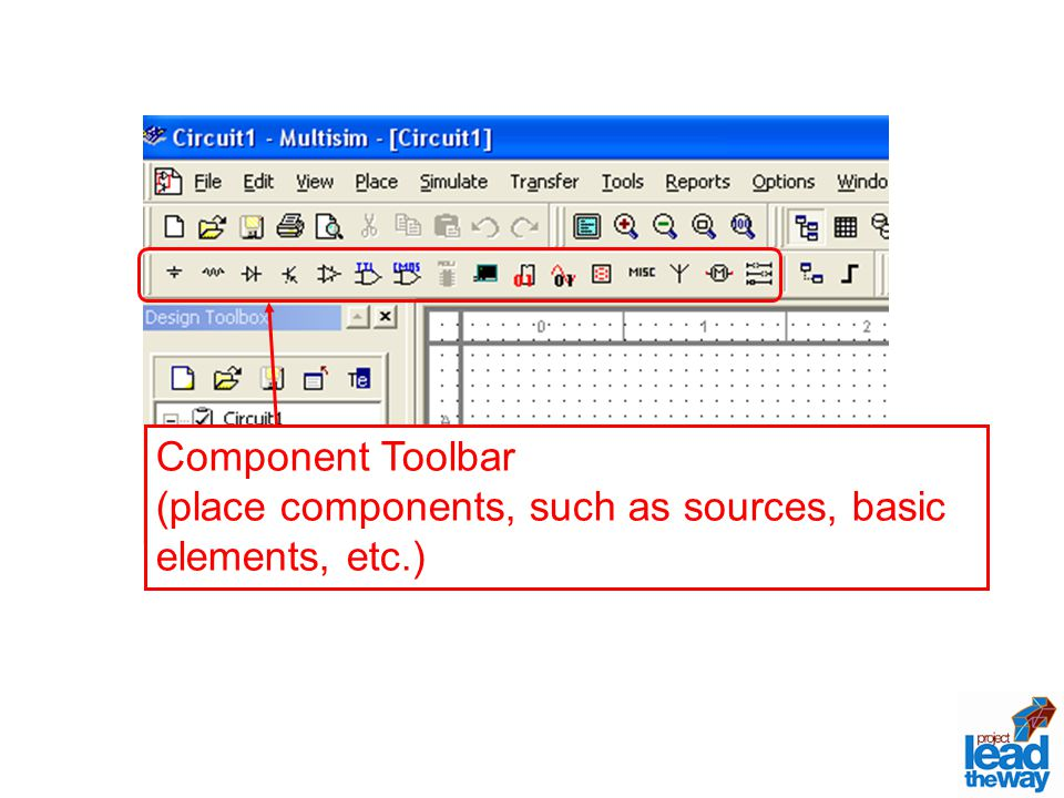 (place components, such as sources, basic elements, etc.)