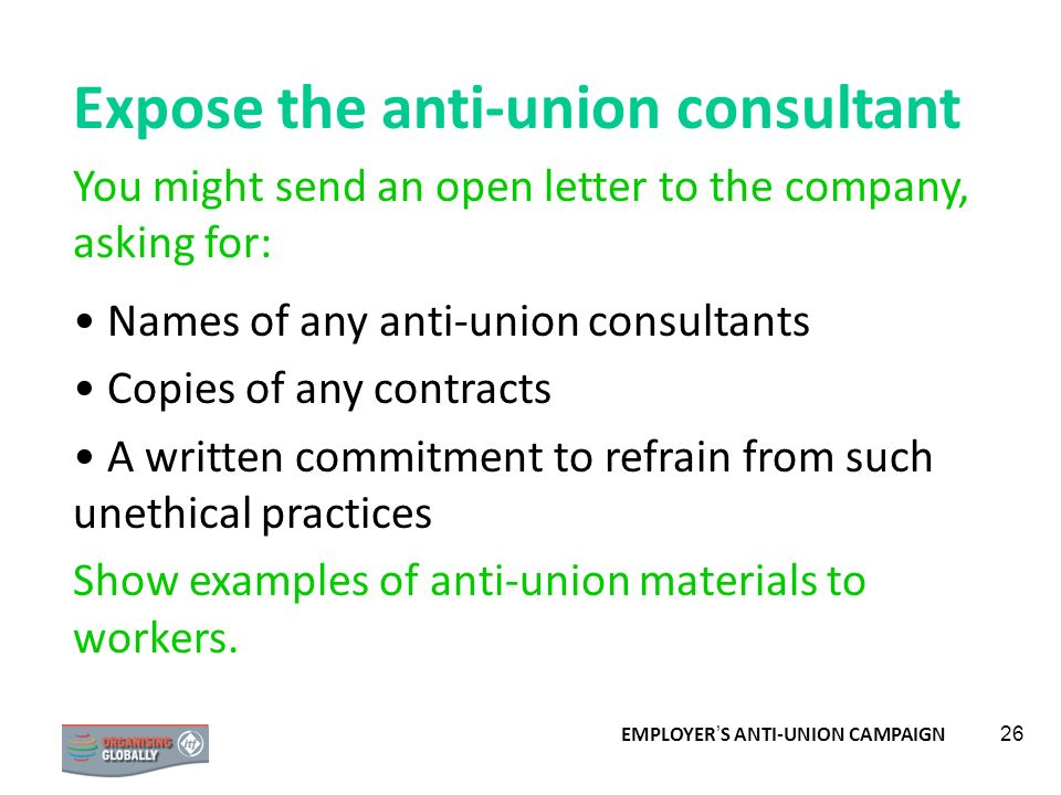 Expose the anti-union consultant