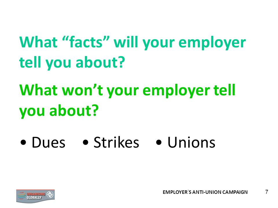What facts will your employer tell you about