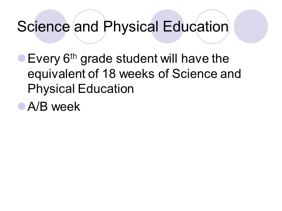 Science and Physical Education