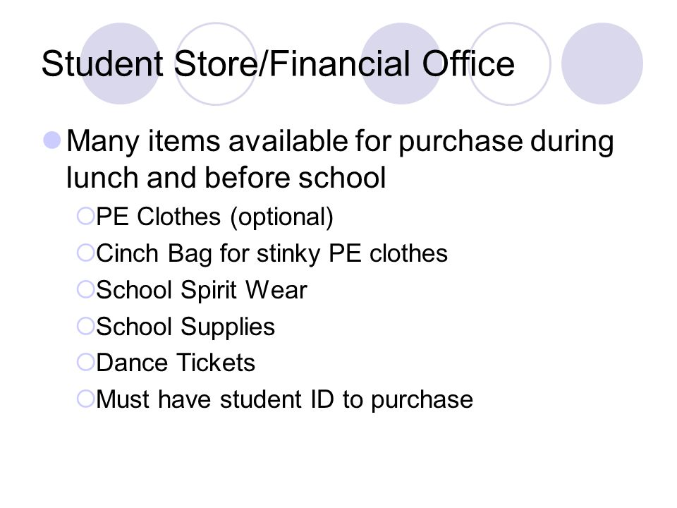 Student Store/Financial Office