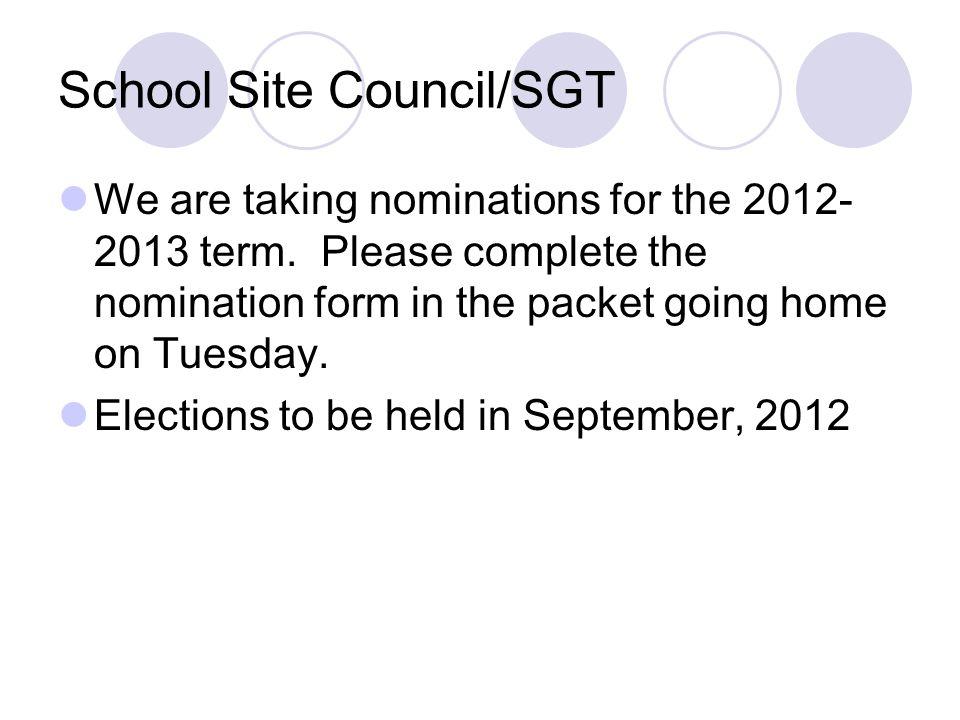School Site Council/SGT