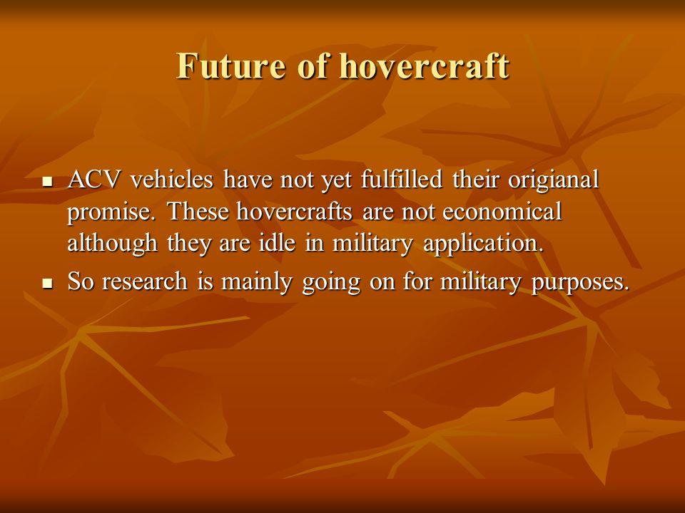 Future of hovercraft
