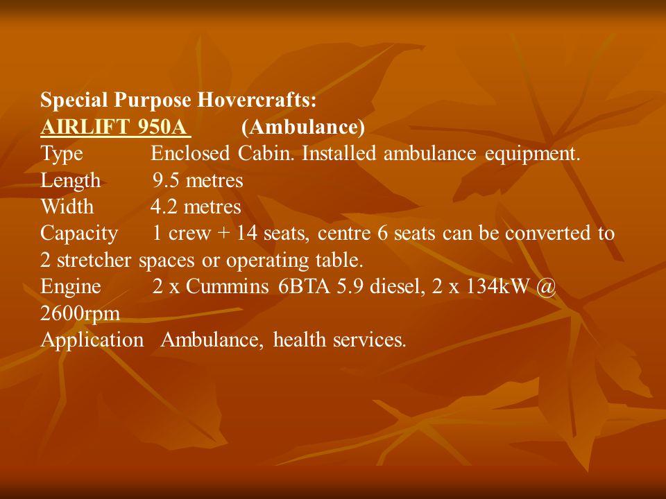 Special Purpose Hovercrafts: