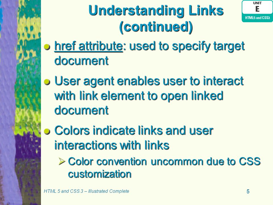 Understanding Links (continued)