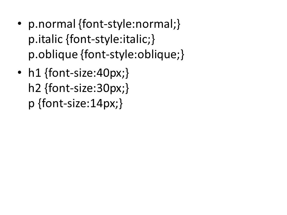 p. normal {font-style:normal;} p. italic {font-style:italic;} p