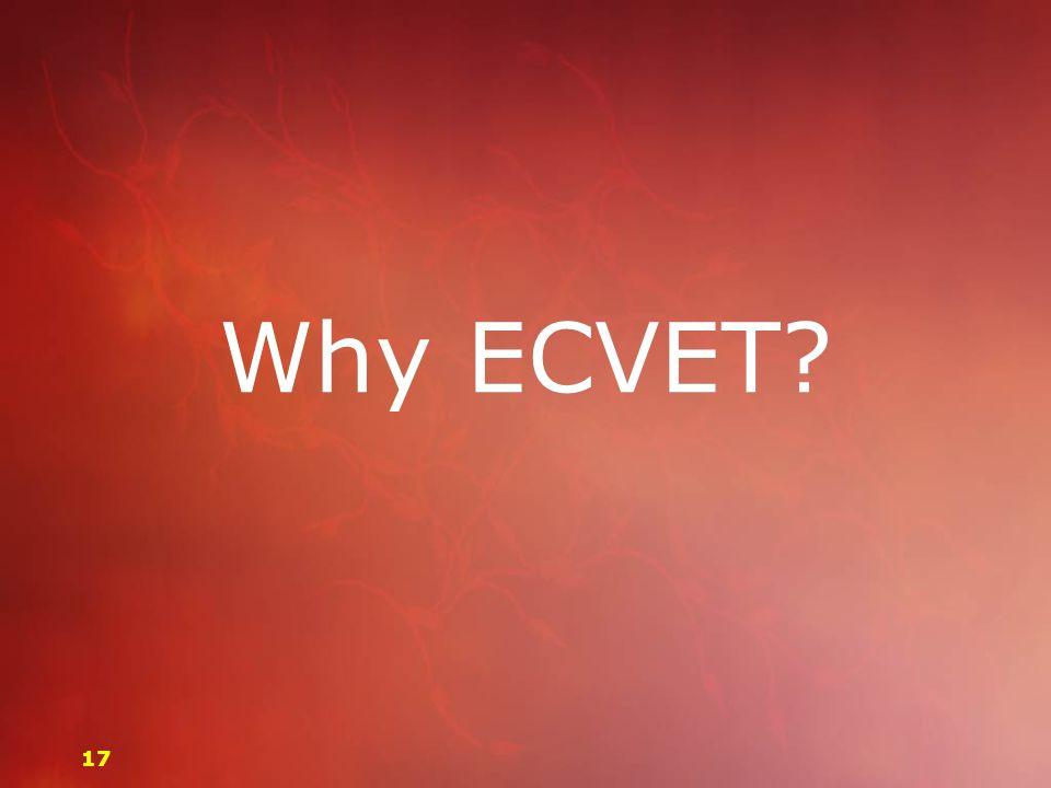 Why ECVET 17