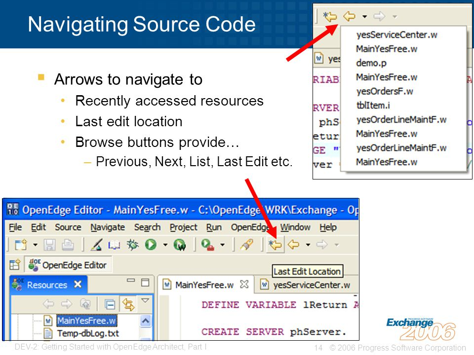 Navigating Source Code