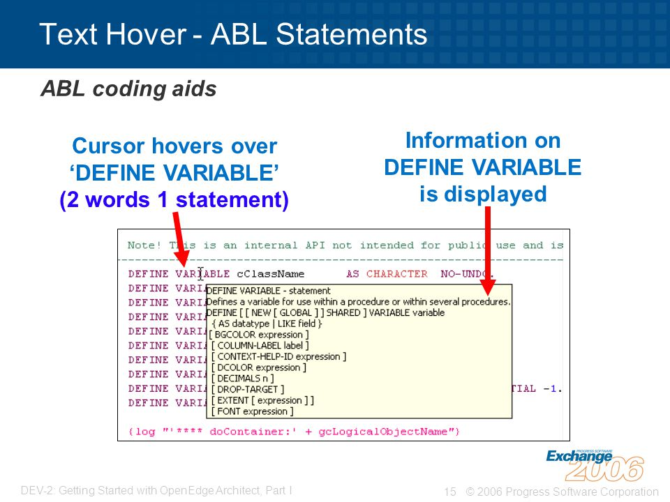 Text Hover - ABL Statements