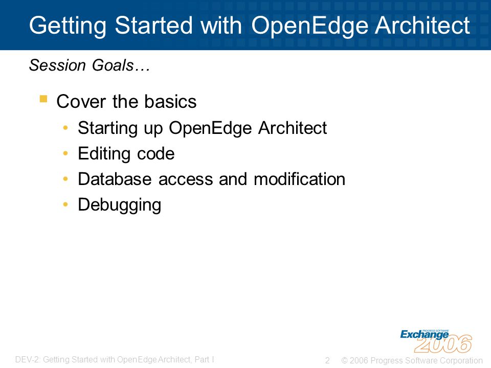Getting Started with OpenEdge Architect