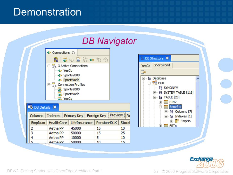 Demonstration DB Navigator