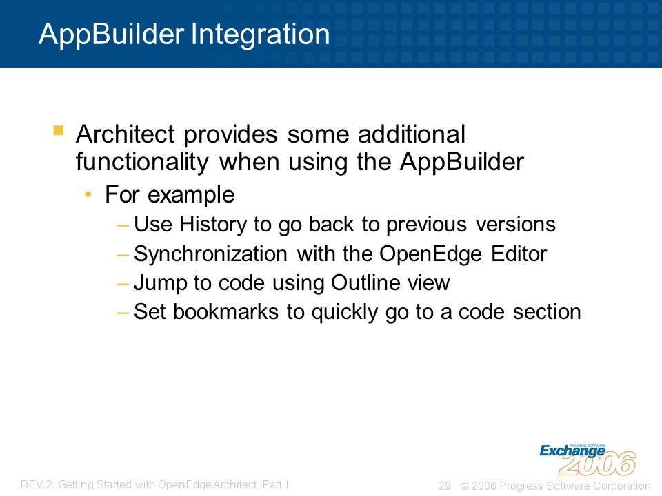 AppBuilder Integration