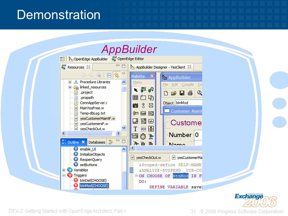 Demonstration AppBuilder