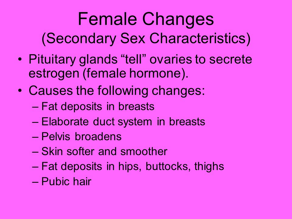 Female Changes (Secondary Sex Characteristics)