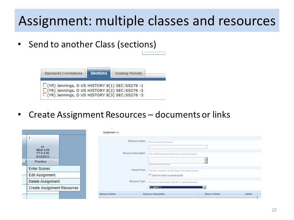 Assignment: multiple classes and resources
