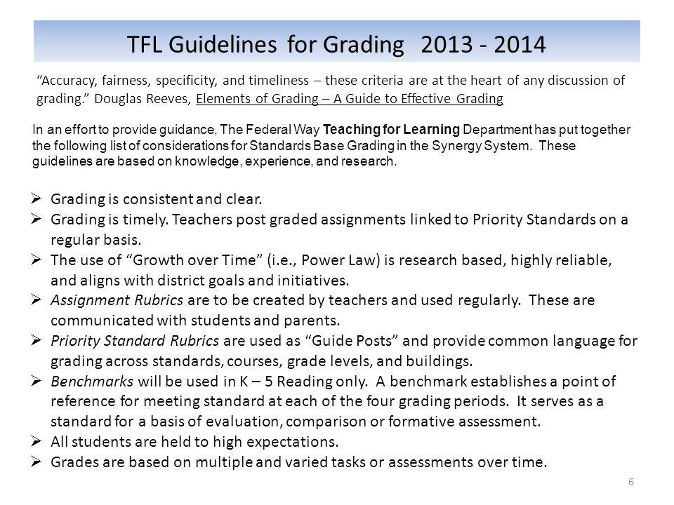TFL Guidelines for Grading 2013 - 2014