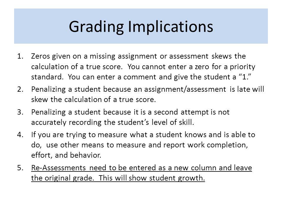 Grading Implications