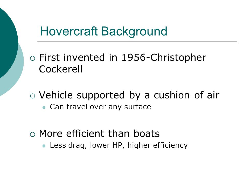 Hovercraft Background