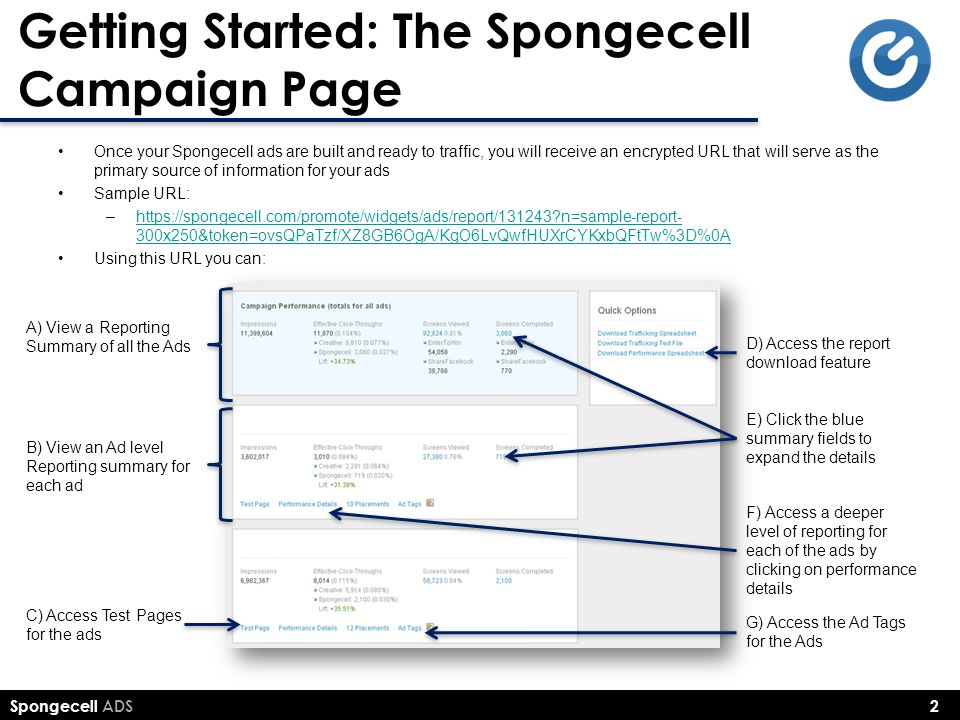 Getting Started: The Spongecell Campaign Page