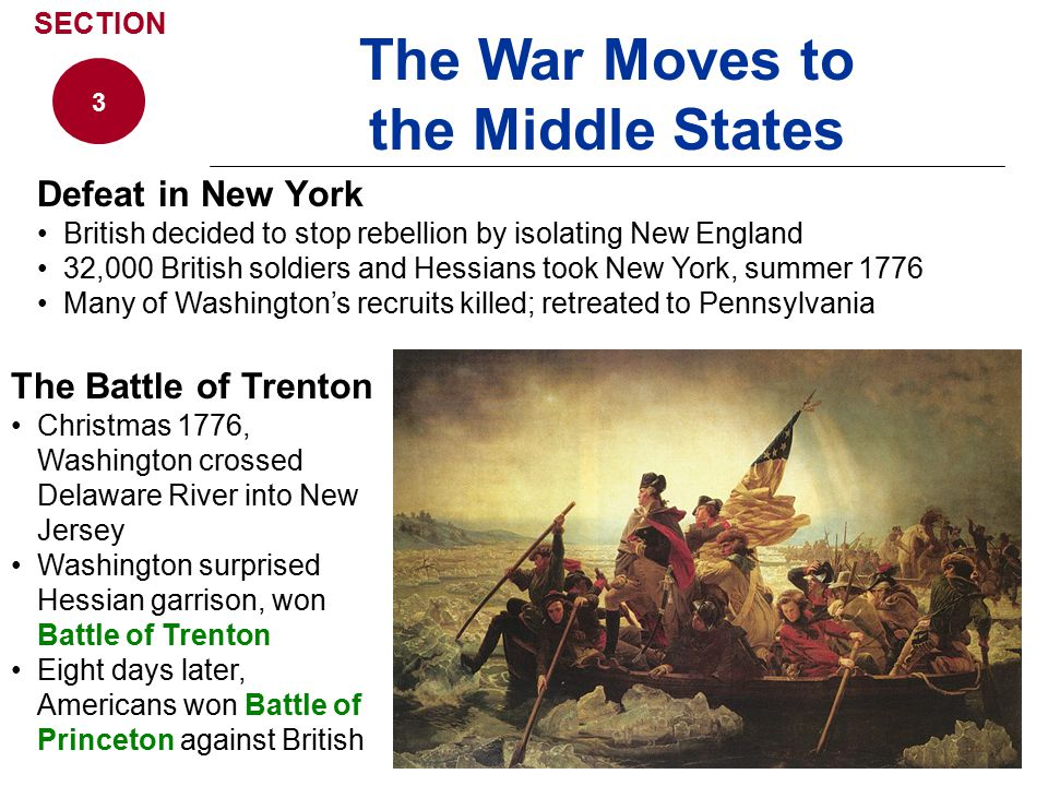 The War Moves to the Middle States