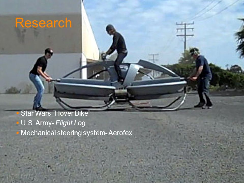 Research Star Wars Hover Bike U.S. Army- Flight Log