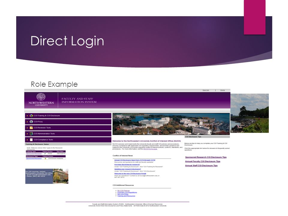 Direct Login Role Example