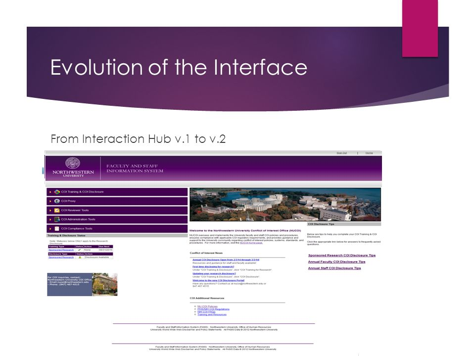 Evolution of the Interface