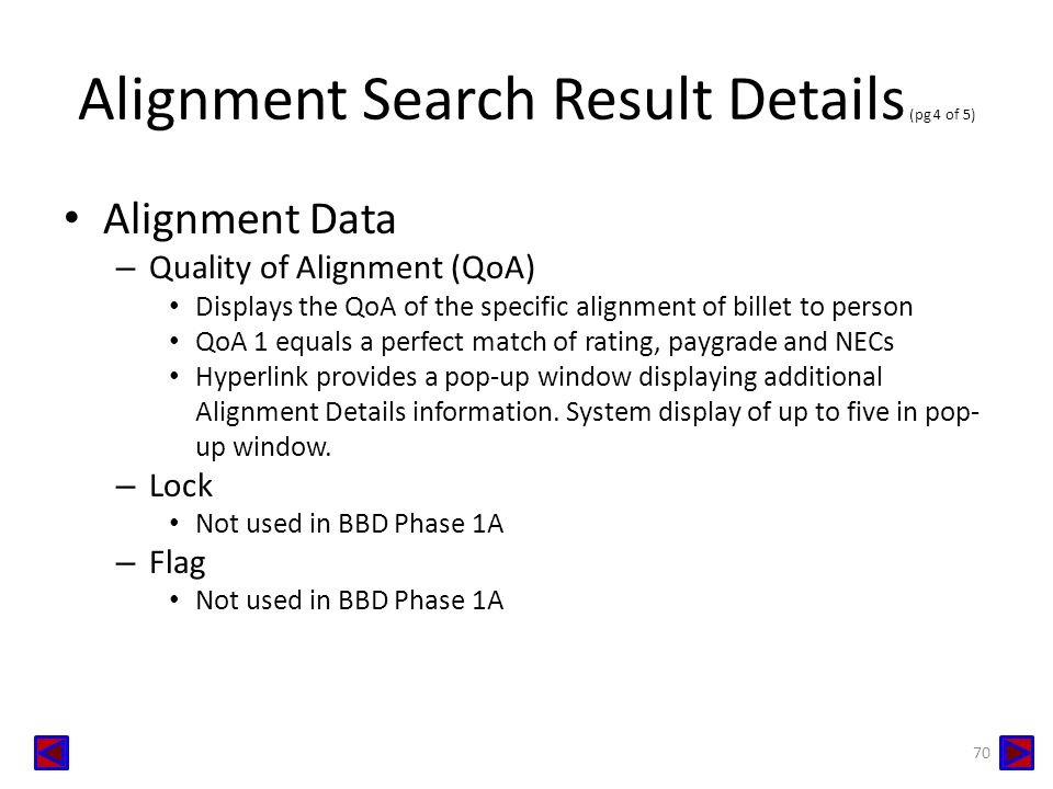 Alignment Search Result Details (pg 4 of 5)