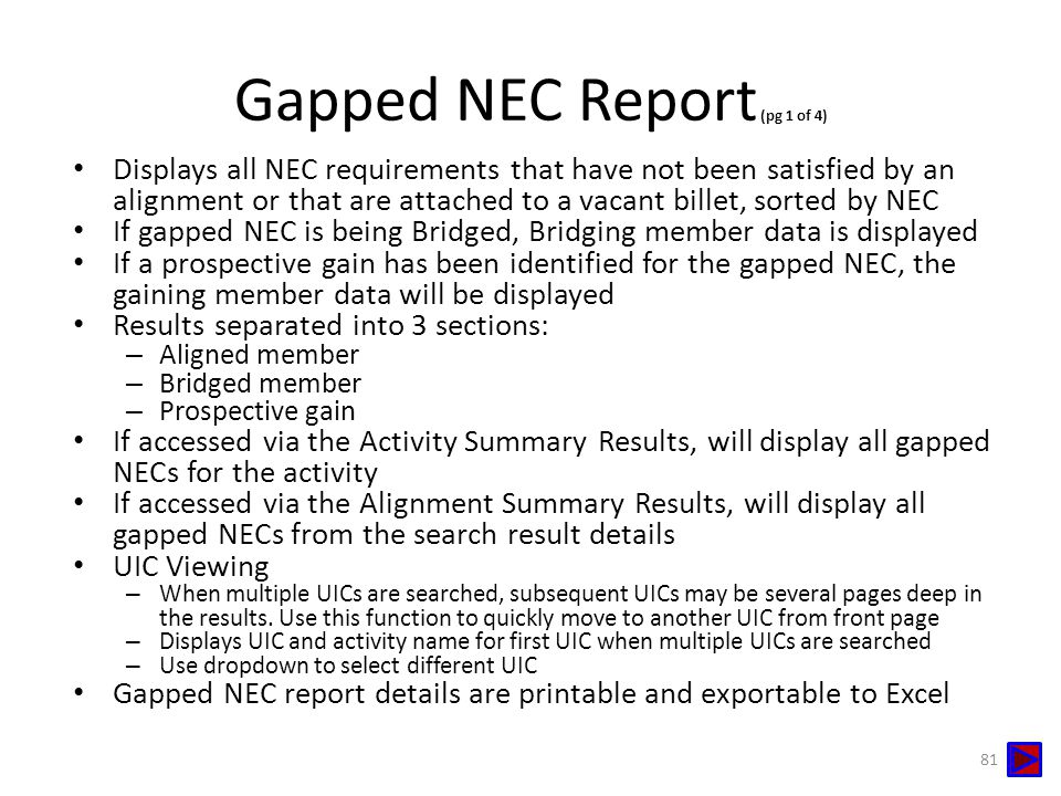 Gapped NEC Report (pg 1 of 4)