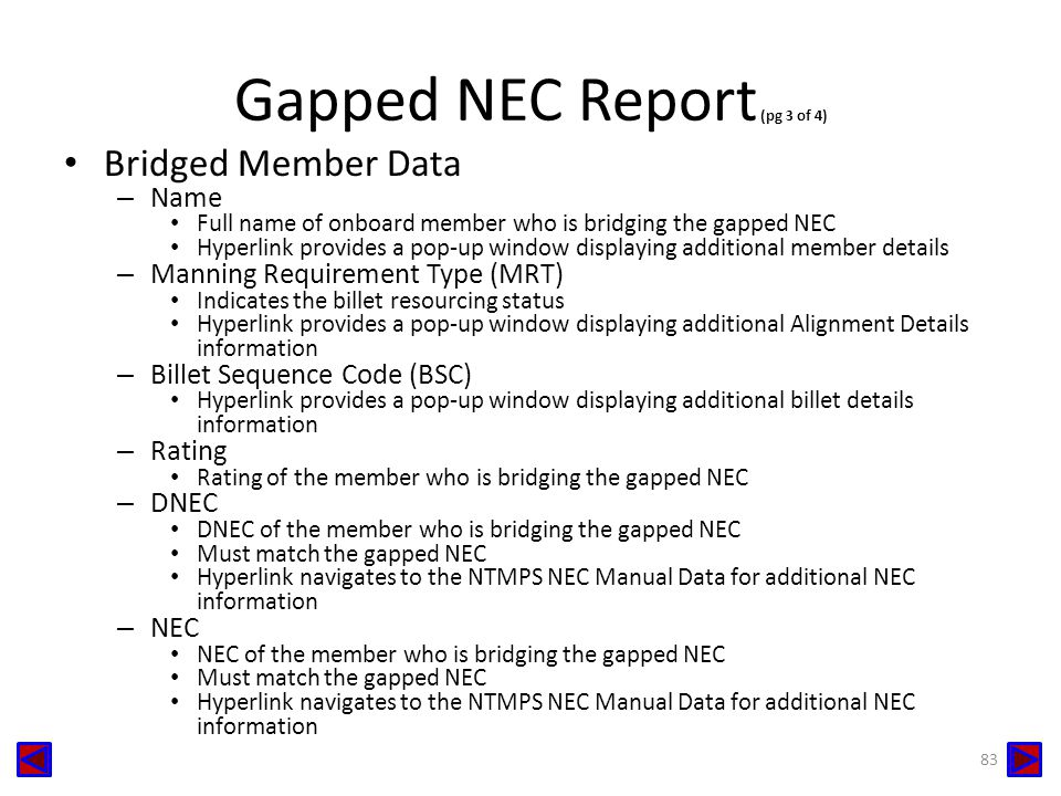 Gapped NEC Report (pg 3 of 4)