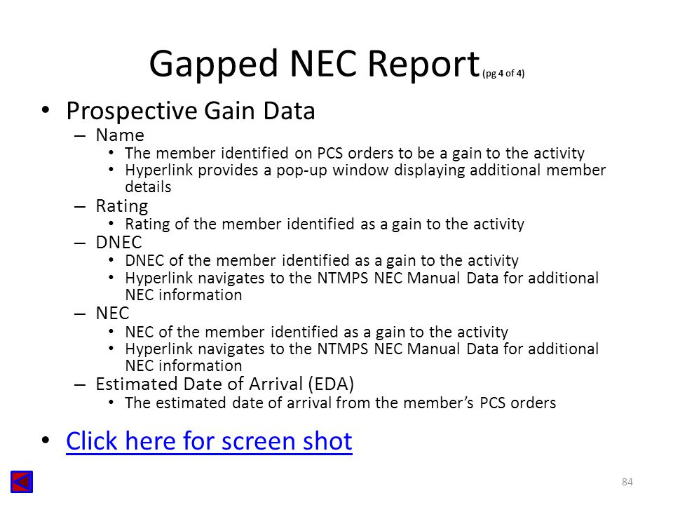 Gapped NEC Report (pg 4 of 4)