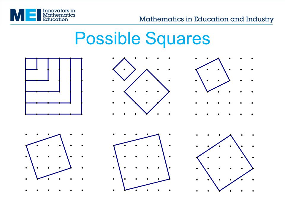 Possible Squares