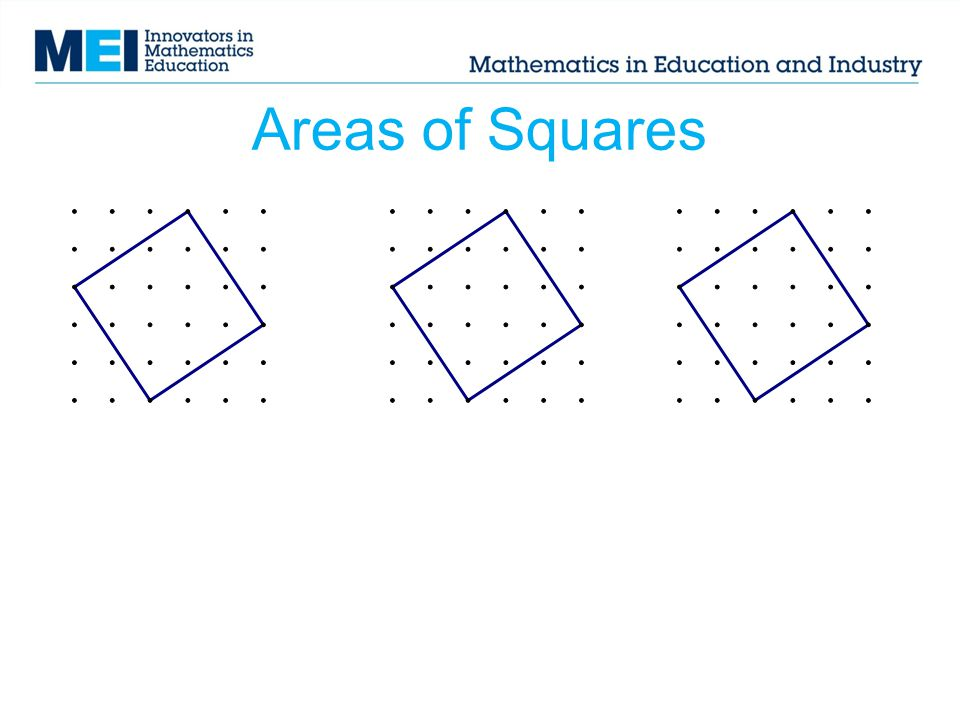 Areas of Squares