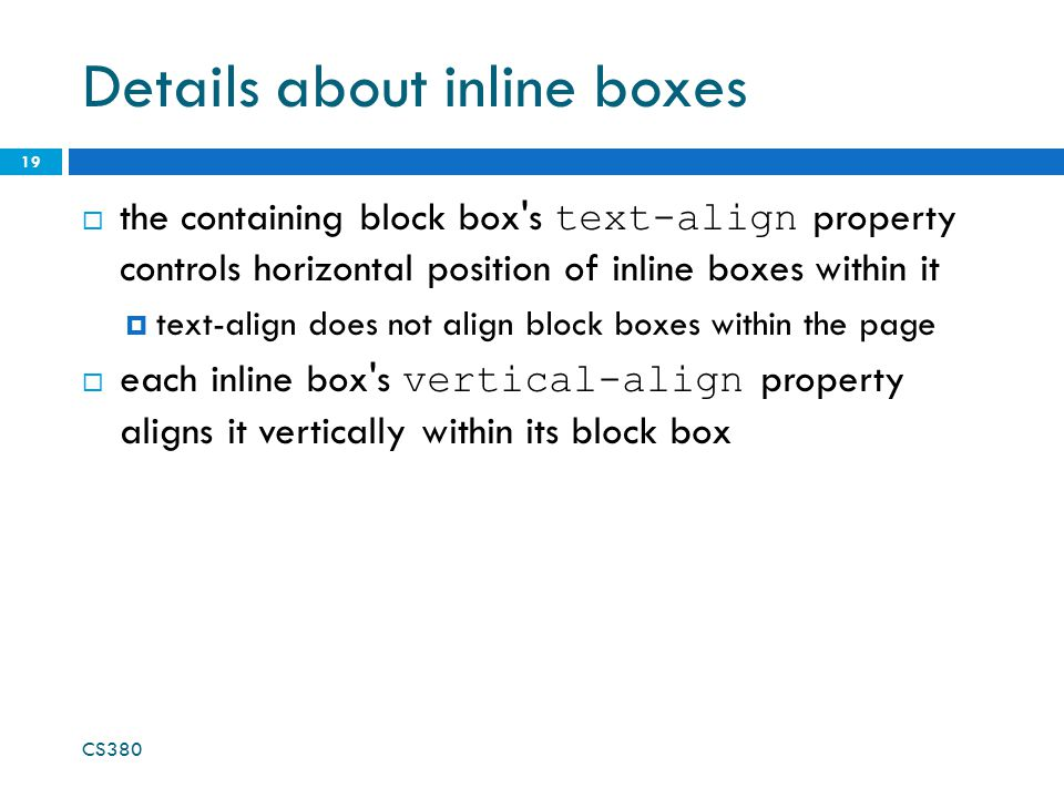 Details about inline boxes