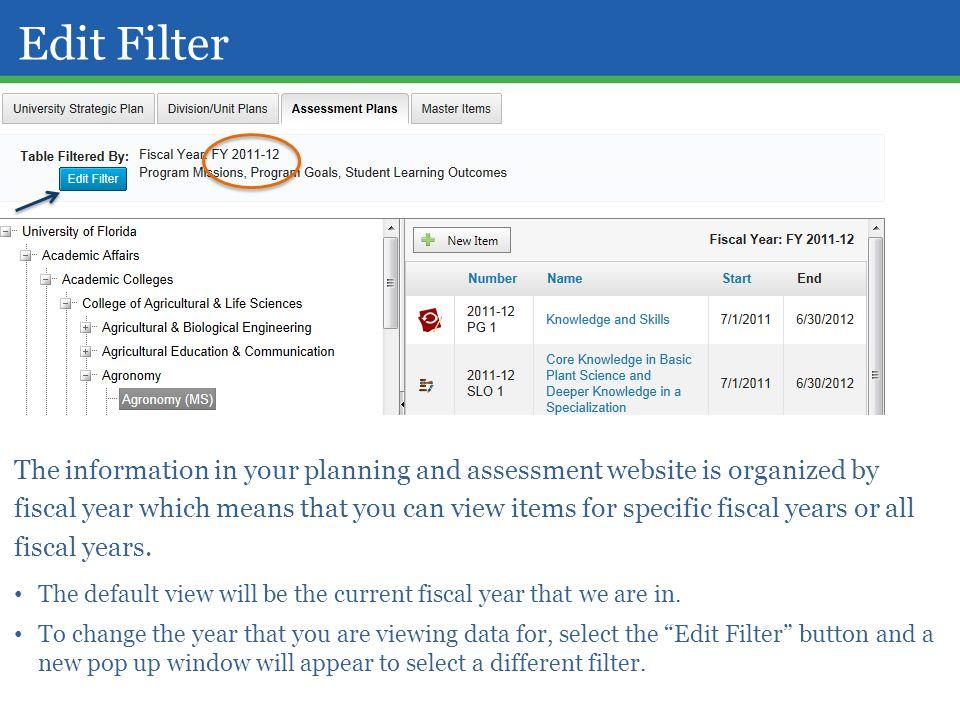 Edit Filter