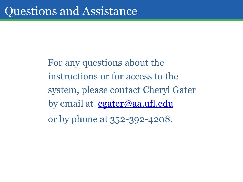 Questions and Assistance